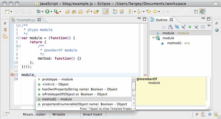 Веб-разработка в Eclipse: JavaScript